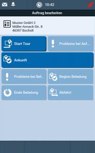Fuhrparkmanagement Software TISLOG mobile Smart: Software-Dialog Auftragsbearbeitung